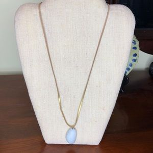 Jewelry - Gold suede cord with stone pendant